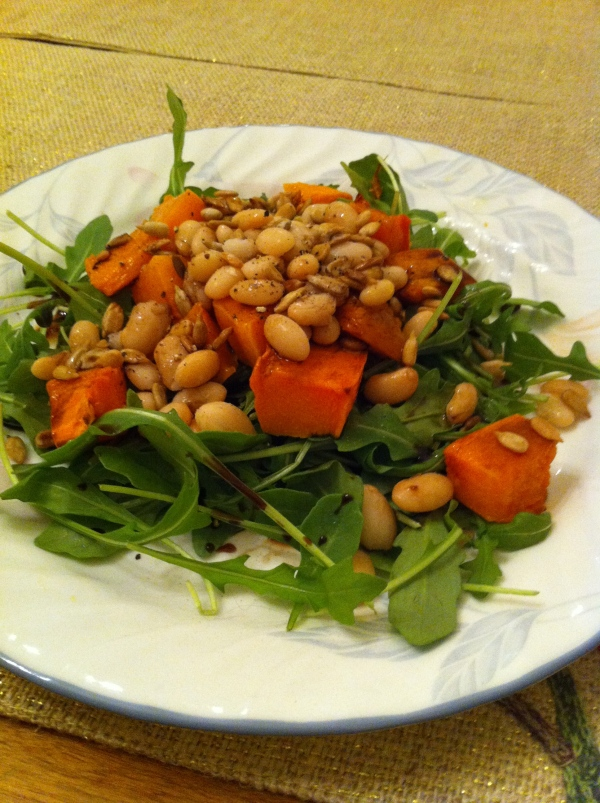 Arugula, White Bean and Roasted Butternut Squash Salad